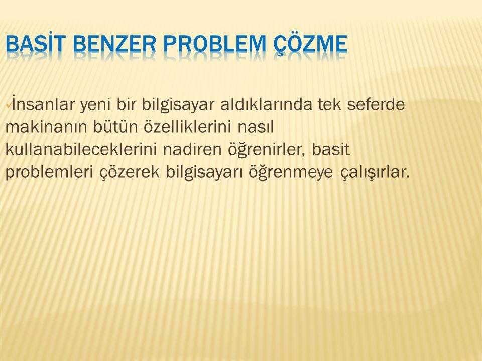 - Bu basit problemleri daha sonra sonuçlarla birleştirirler.