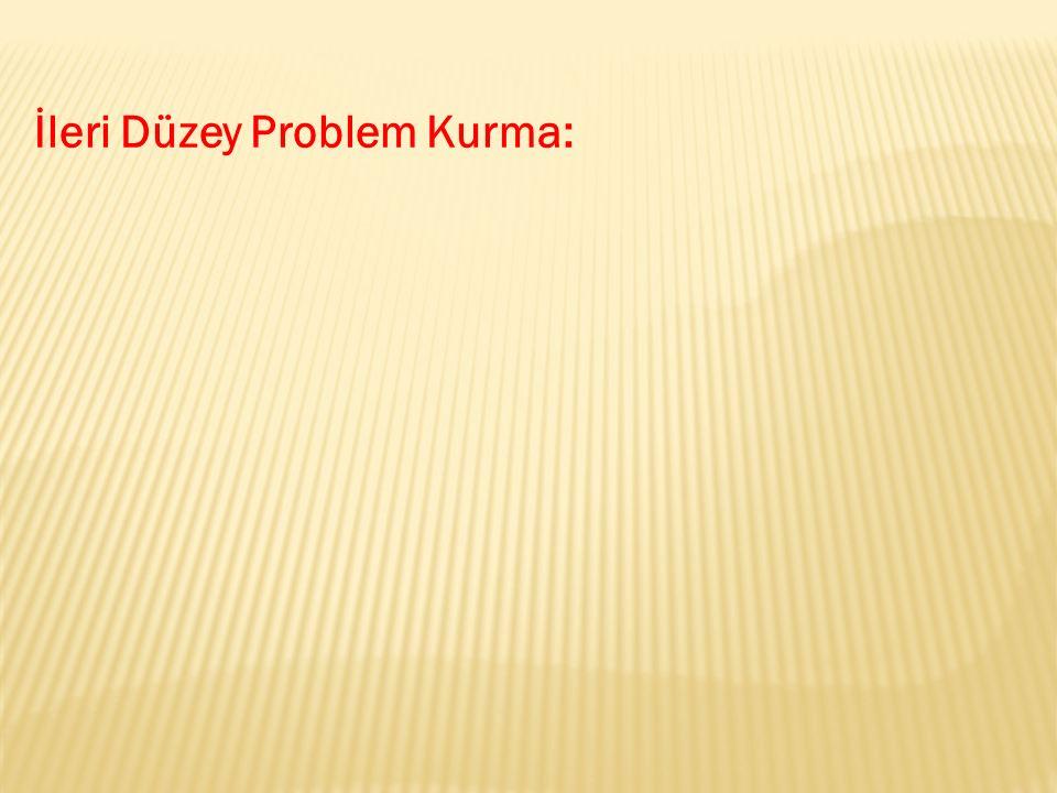 İleri Düzey Problem Kurma: