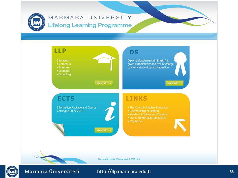 Marmara Üniversitesi http://llp.marmara.edu.tr 33