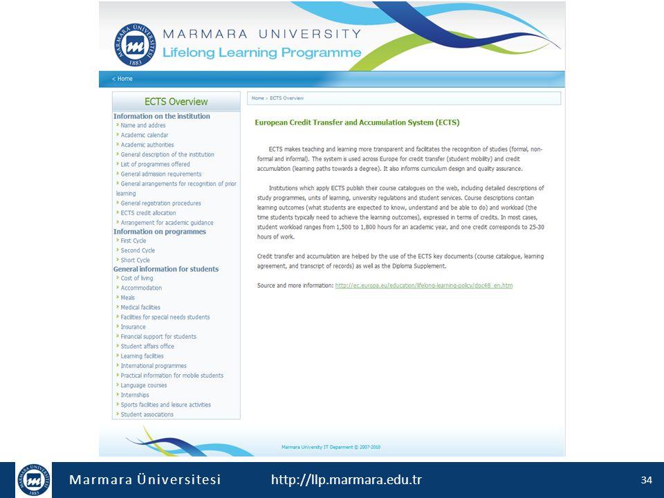 Marmara Üniversitesi http://llp.marmara.edu.tr 34