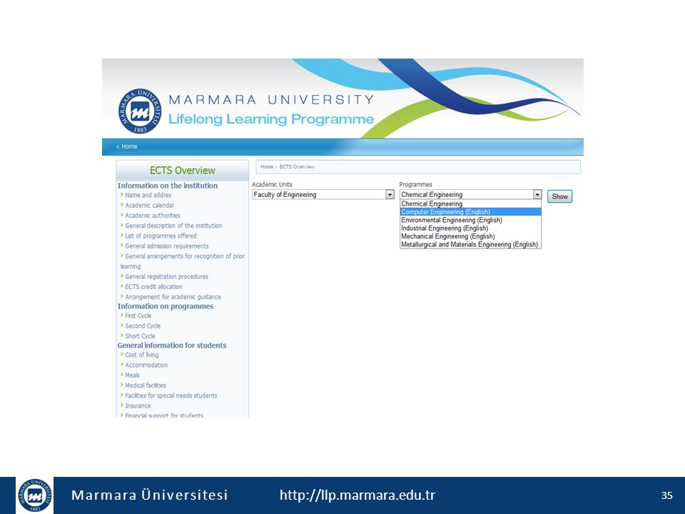 Marmara Üniversitesi http://llp.marmara.edu.tr 36