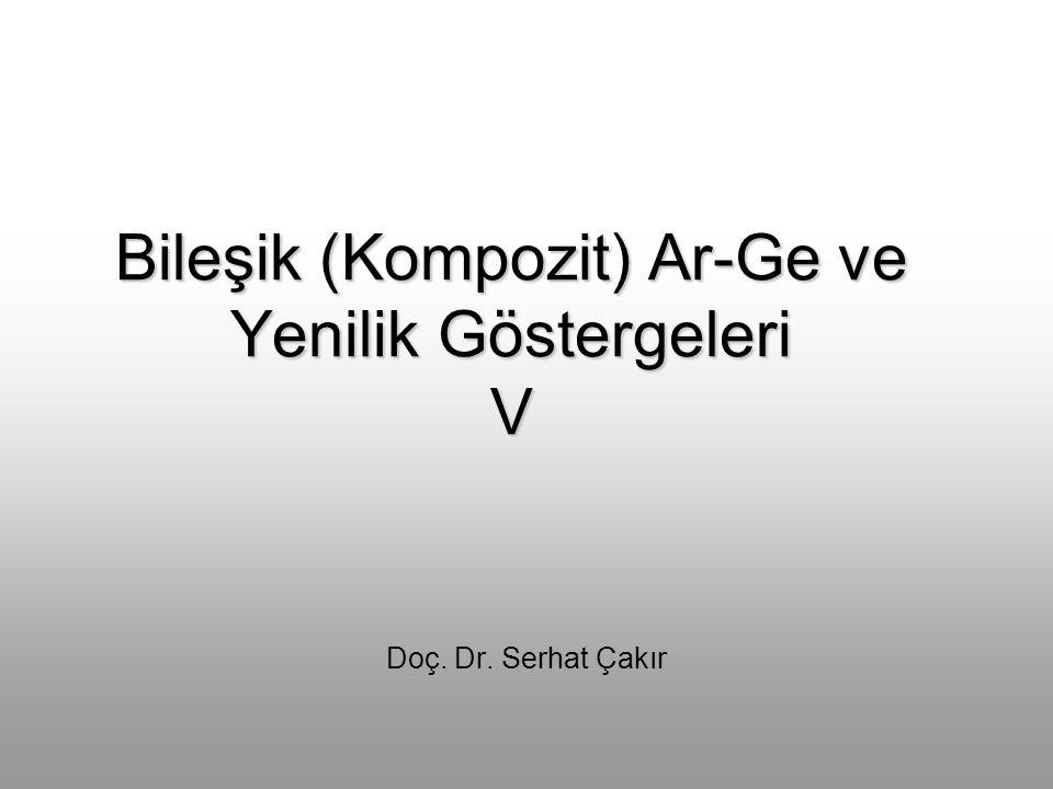 Bileşik (Kompozit) Ar-Ge ve Yenilik Göstergeleri V Doç. Dr. Serhat Çakır