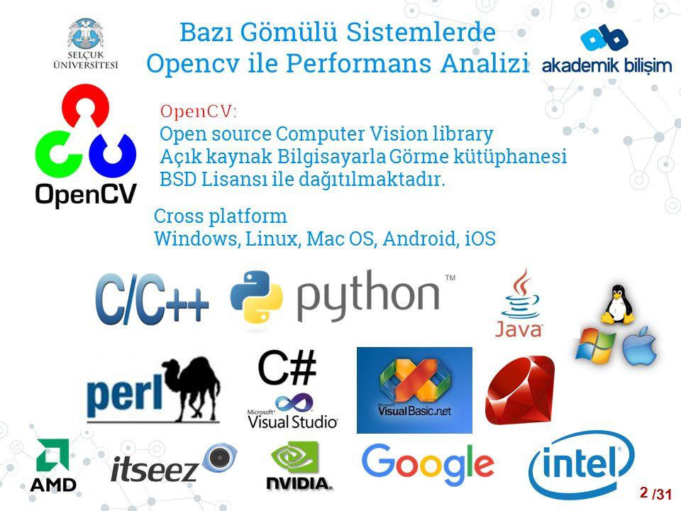 /24 Bazı Gömülü Sistemlerde Opencv ile Performans Analizi ALGORİTMA-1(Raspberry Pi 1) İşletim Sistemleri Linux Kernel Versiyonu CPU Sıcaklığı Opencv Versiyonu Min Çözüm Süresi Ms Ort Çözüm Süresi Ms En Yüksek Çözüm Süresi Ms RASPBIAN JESSIE 4.1423775803884 RASPBIAN WHEEZY3.1842.33630644690 UBUNTU MATE3.1642.33860864903 PARDUS ARM 23.1342.23754786809 FEDORA3.7423903905925 Androidv4.0.2423903950987 23