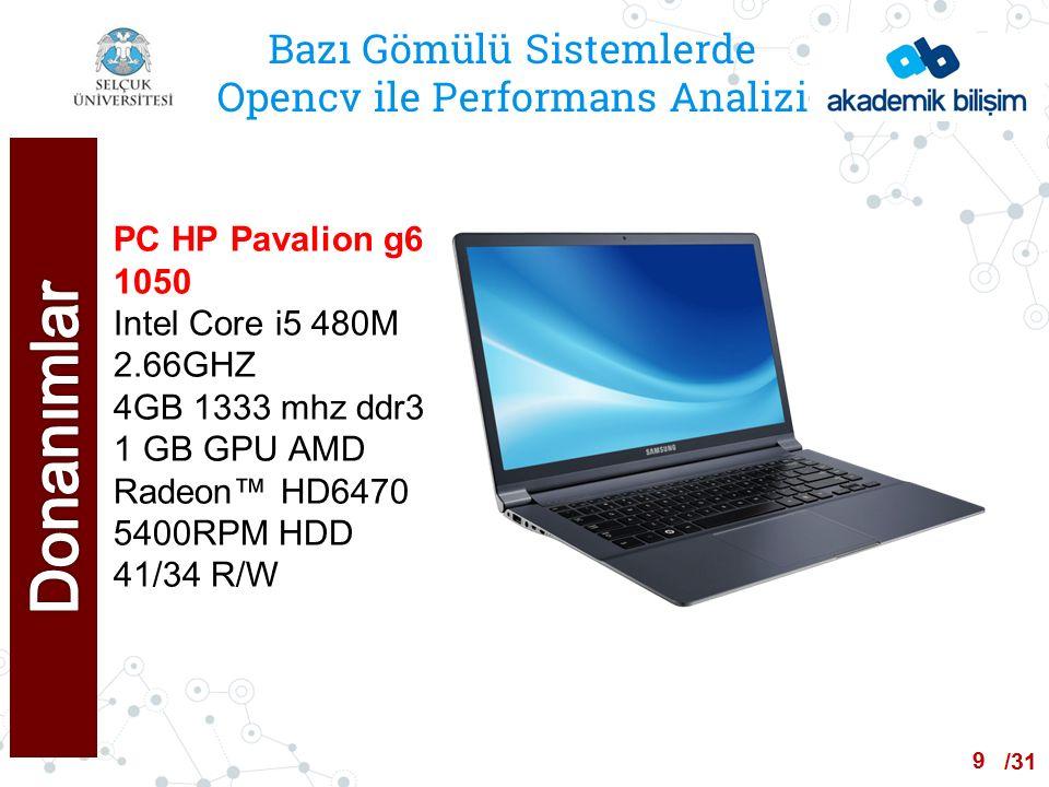 /24 Bazı Gömülü Sistemlerde Opencv ile Performans Analizi ALGORİTMA-3 (PC) İşletim Sistemleri Linux Kernel Versiyonu CPU Sıcaklığı Opencv Versiyonu Min Çözüm Süresi Ms Ort Çözüm Süresi Ms En Yüksek Çözüm Süresi Ms Mint 17.13.7413380392395 Windows 10X423 403409413 30