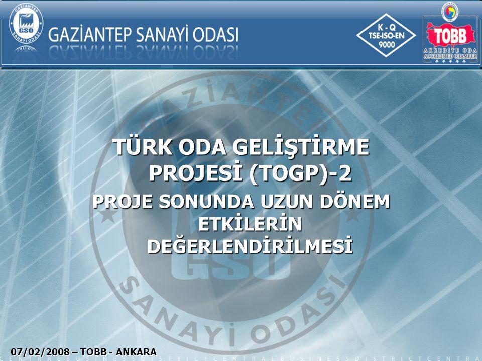 KAPSAM Gaziantep Sanayi Odası Tanıtımı Gaziantep Sanayi Odası Tanıtımı Odamız Tarafından Gerçekleştirilen Projeler Odamız Tarafından Gerçekleştirilen Projeler Akreditasyon Süreci Akreditasyon Süreci Türk Oda Geliştirme Projesi Türk Oda Geliştirme Projesi Beklentiler Beklentiler 07/02/2008 – TOBB - ANKARA
