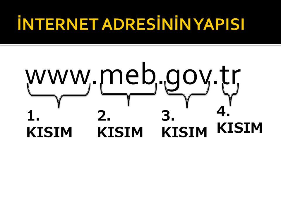 www.meb.gov.tr 1. KISIM 2. KISIM 3. KISIM 4. KISIM