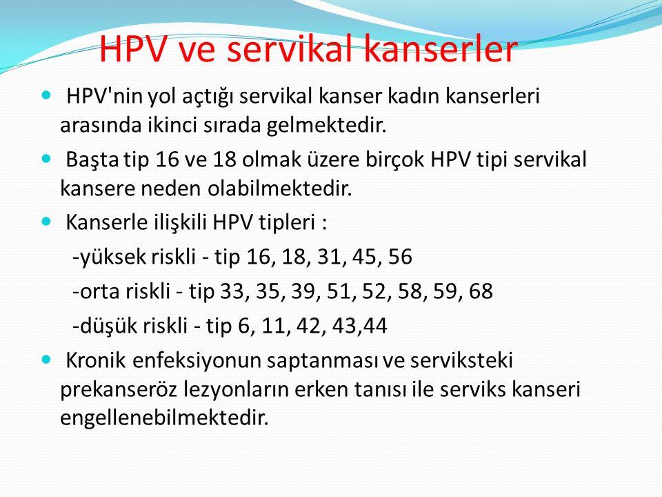 HPV taramasının amacı Üreme çağındaki yaş gruplarına yönelik serviks tarama programlarının desteklenmesi amacıyla ülkemizdeki kadın populasyonunda, HPV sıklığının ve genotiplerinin ortaya konması gerekir.