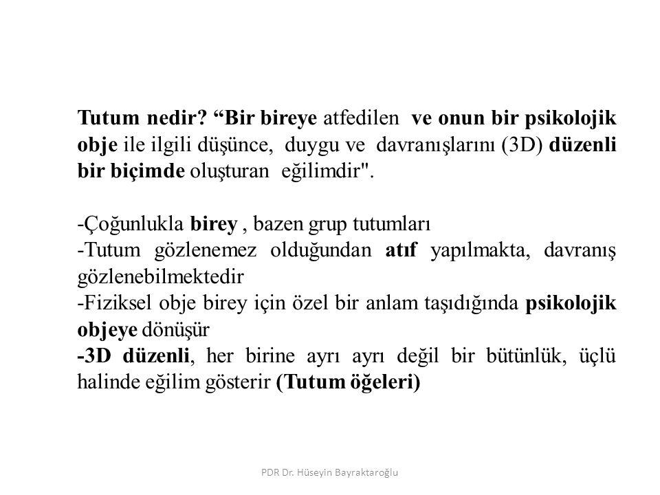 PDR Dr. Hüseyin Bayraktaroğlu Tutum nedir.