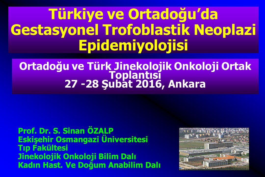 Ortadoğu ve Türk Jinekolojik Onkoloji Ortak Toplantısı 27 -28 Şubat 2016, Ankara Prof. Dr. S. Sinan ÖZALP Eskişehir Osmangazi Üniversitesi Tıp Fakülte