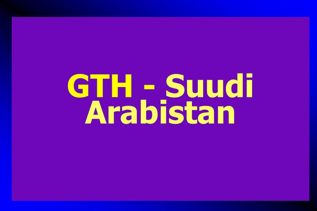 GTH prevalansı, tek merkez - Suudi Arabistan  Retrospektif, 11 yıllık dönem, 64,762 gebelik, 59 HM, komplet 36, parsiyel 23, koka 2  Sosyomedikal gelişme ile GTH insidansı azalmış ve avrupa düzeylerine ulaşmış  Khashoggi TY, Prevalence of gestational trophoblastic disease.
