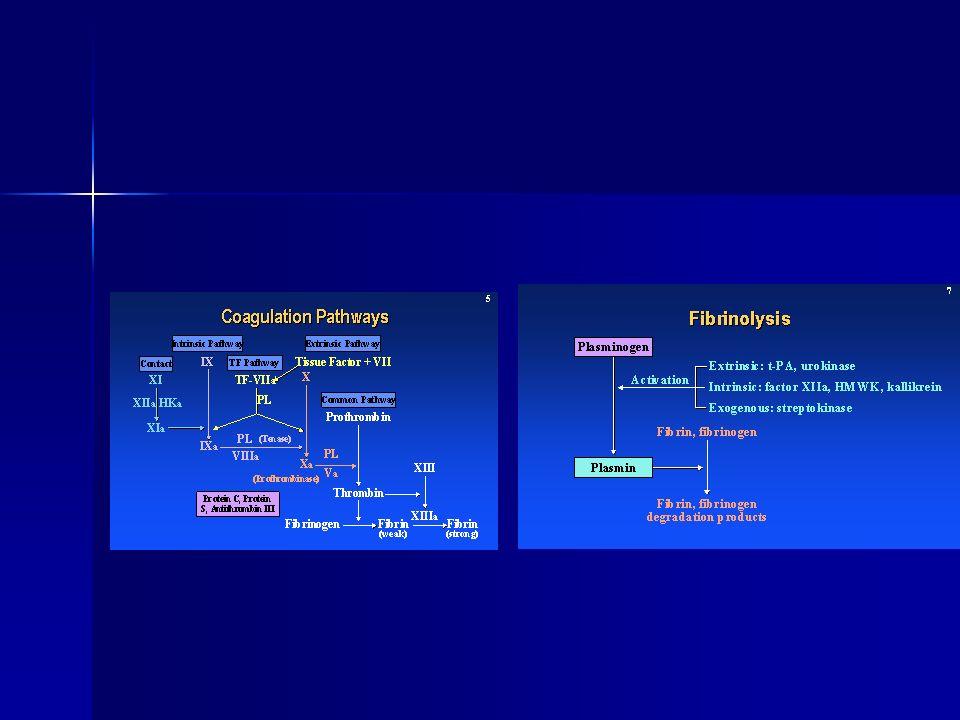 Tanı DİK nedeni olabilecek altta yatan bir hastalığın olması DİK nedeni olabilecek altta yatan bir hastalığın olması Klinik bulgular Klinik bulgular Laboratuvar Laboratuvar Hemogram ve periferik yayma Trombosit sayımı Protrombin zamanı Fibrinojen düzeyi Fibrin monomer ya da fibrin yıkım ürünlerinin varlığı