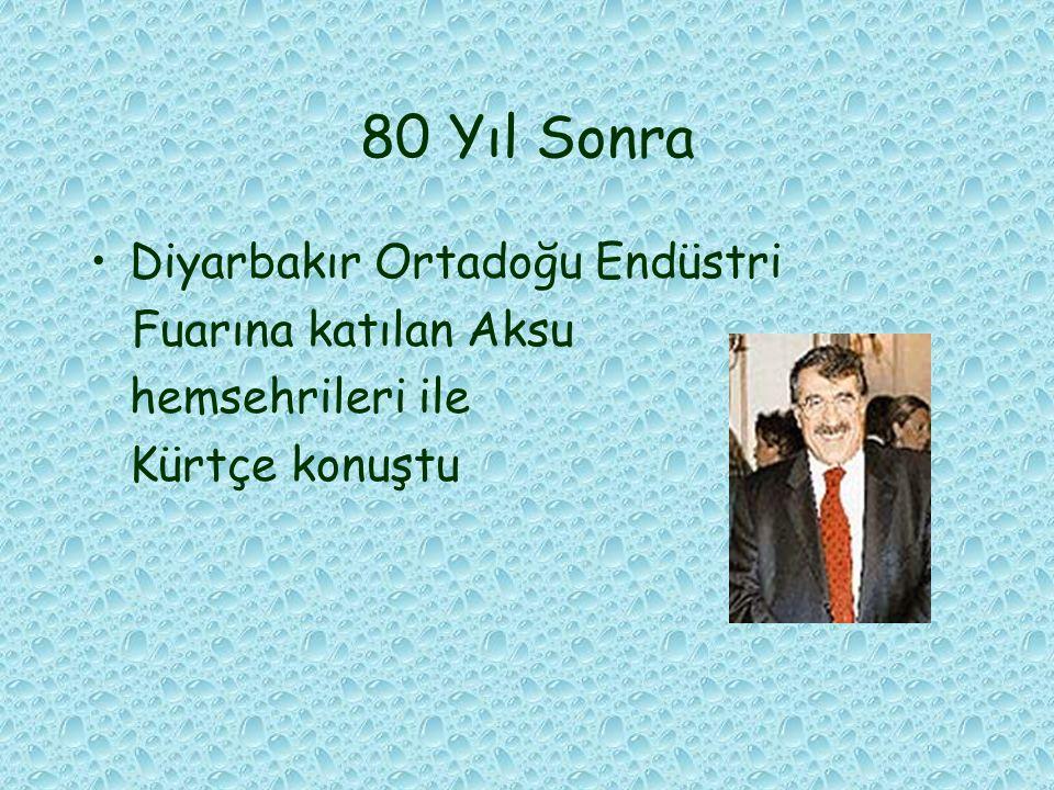 80 Yıl Sonra Diyarbakır Ortadoğu Endüstri Fuarına katılan Aksu hemsehrileri ile Kürtçe konuştu