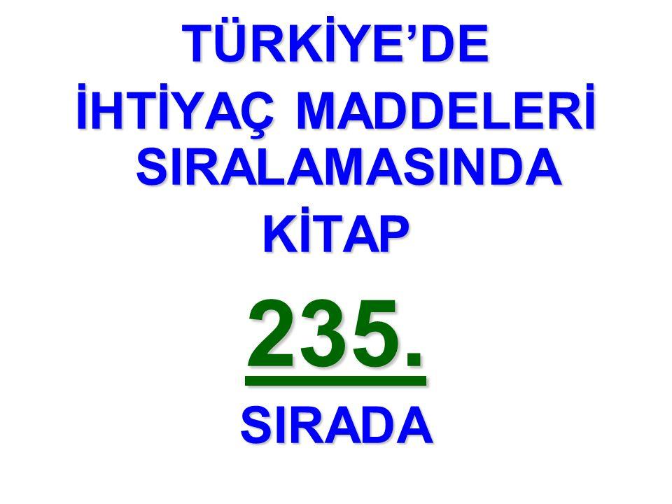 TÜRKİYE'DE KİTAP235.SIRADA