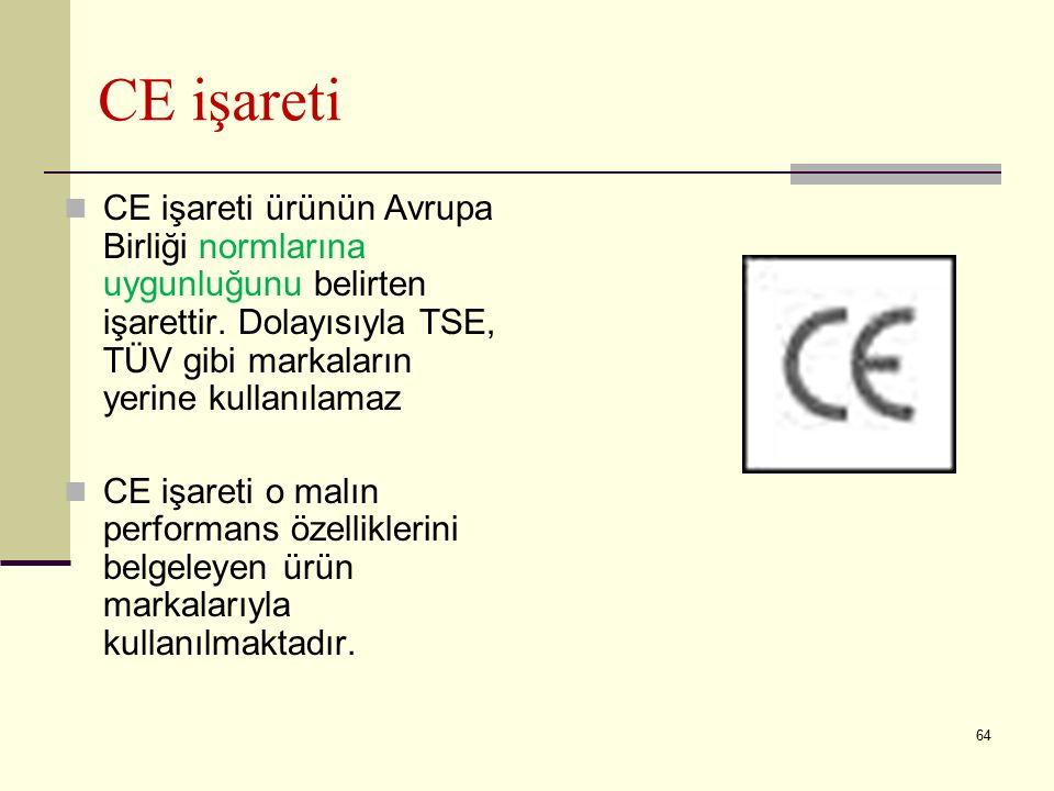 63 CEN ve EN Nedir? CEN, Avrupa Standardizasyon Komitesidir. ( Comite Europeen de Normalization ). EN ( European Norm ), Avrupa Standardlarının kısalt