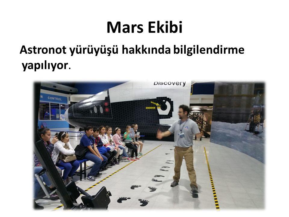 Mars Ekibi Astronot yürüyüşü hakkında bilgilendirme yapılıyor.