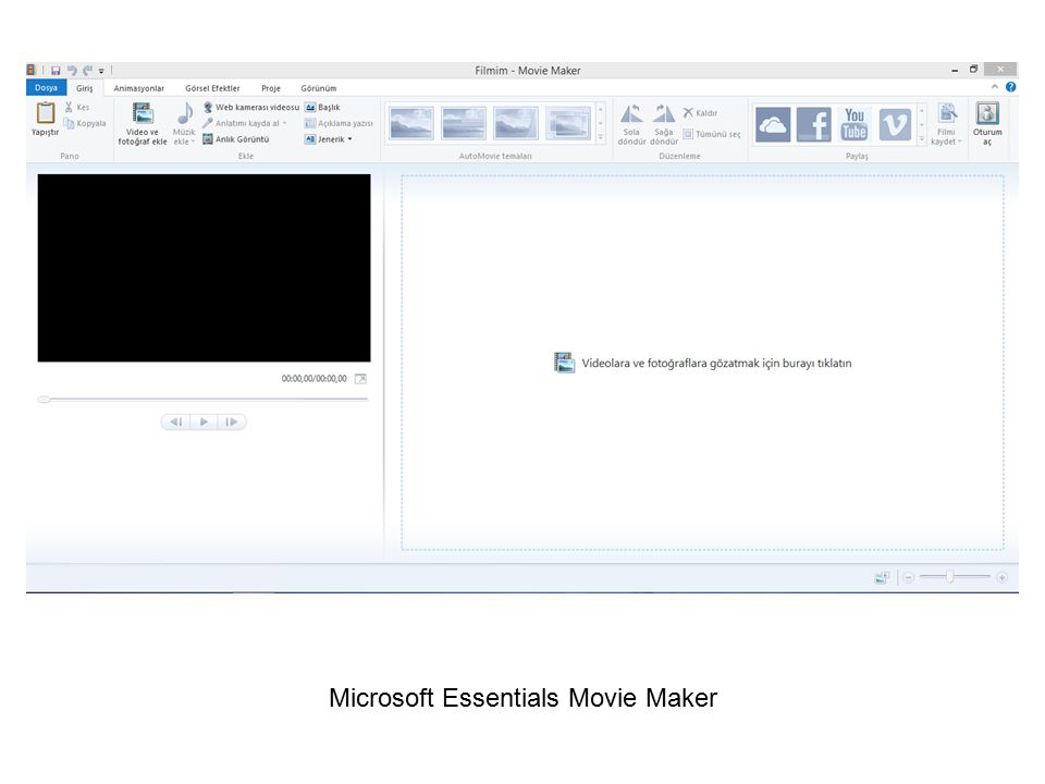 Microsoft Essentials Movie Maker