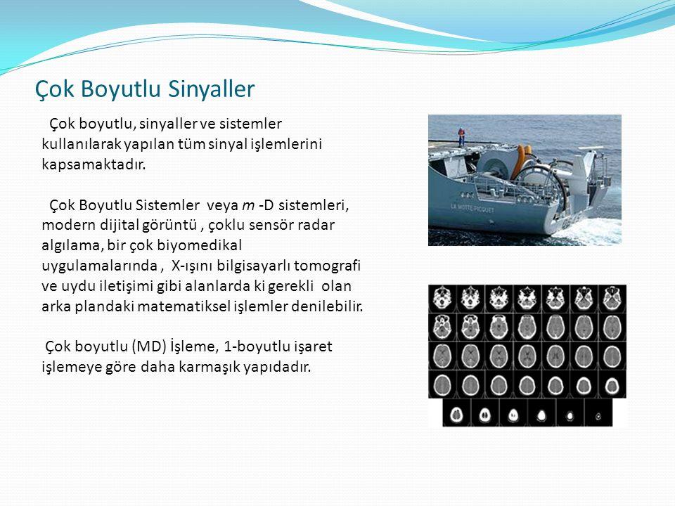Çok boyutlu, sinyaller ve sistemler kullanılarak yapılan tüm sinyal işlemlerini kapsamaktadır.