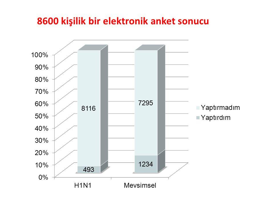 8600 kişilik bir elektronik anket sonucu