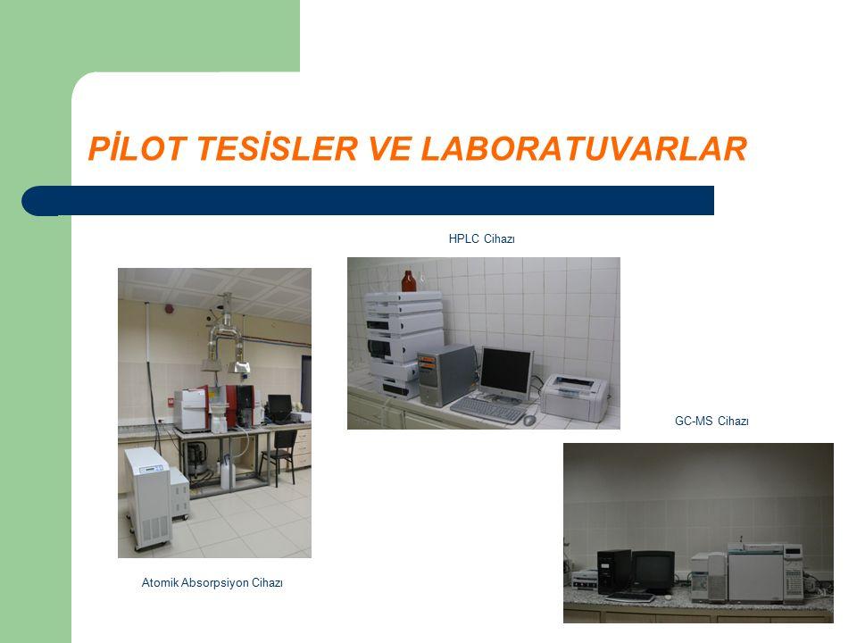 PİLOT TESİSLER VE LABORATUVARLAR Atomik Absorpsiyon Cihazı HPLC Cihazı GC-MS Cihazı