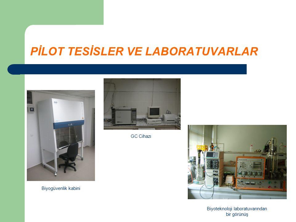 PİLOT TESİSLER VE LABORATUVARLAR Biyogüvenlik kabini Biyoteknoloji laboratuvarından bir görünüş GC Cihazı