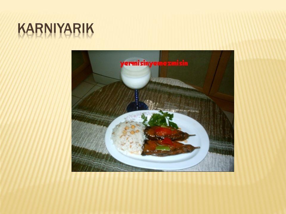  6 Küçük patlıcan  2 soğan  2-3 sivri biber  3-4 kaşık yağ  250 gr.