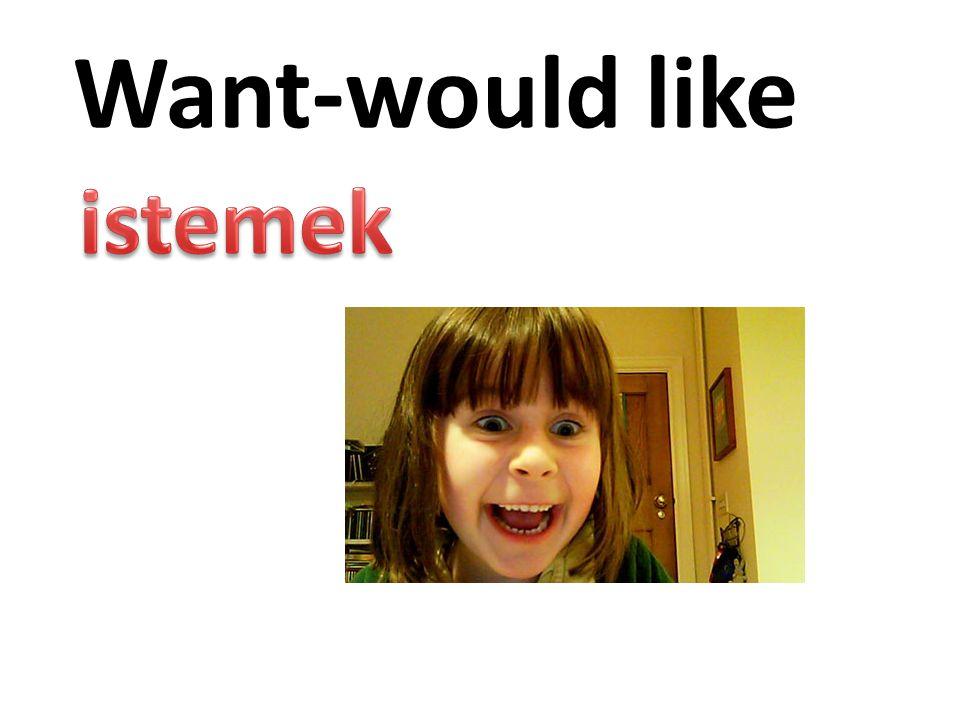 Want-would like