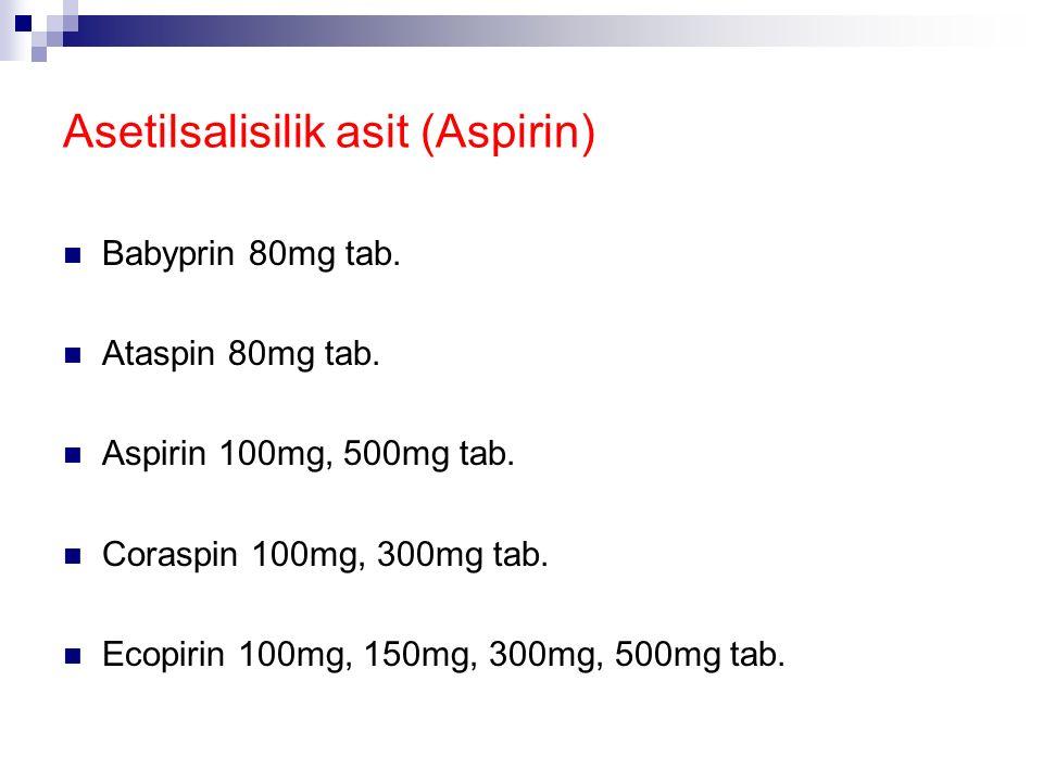 Antipiretik İlaçlar Altta yatan enfeksiyon hastalığının süresini ve etkilerini değiştirmez Asetil salisilik asit Asetaminofen İbuprofen Metamizol Nime