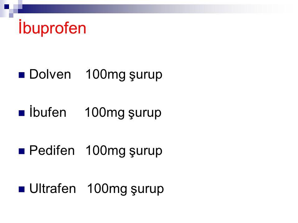 Asetaminofen(Parasetamol) Calpol 120mg süsp Geralgine 120mg süsp Gripin 120mg süsp Minoset 120mg süsp Noral 120mg süsp Paracetamol 120mg süsp Tamol 12