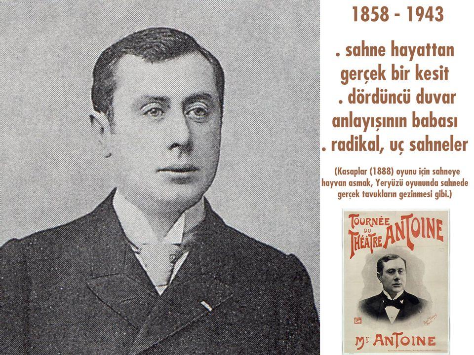 Darülbedâyi (1914) Andre Antoine yerli piyesler teşviki Türkçülük akımı, tiyatroda daha fazla hissedilir. dil ve üslup doğallığı ekonomik sorunlar, ka