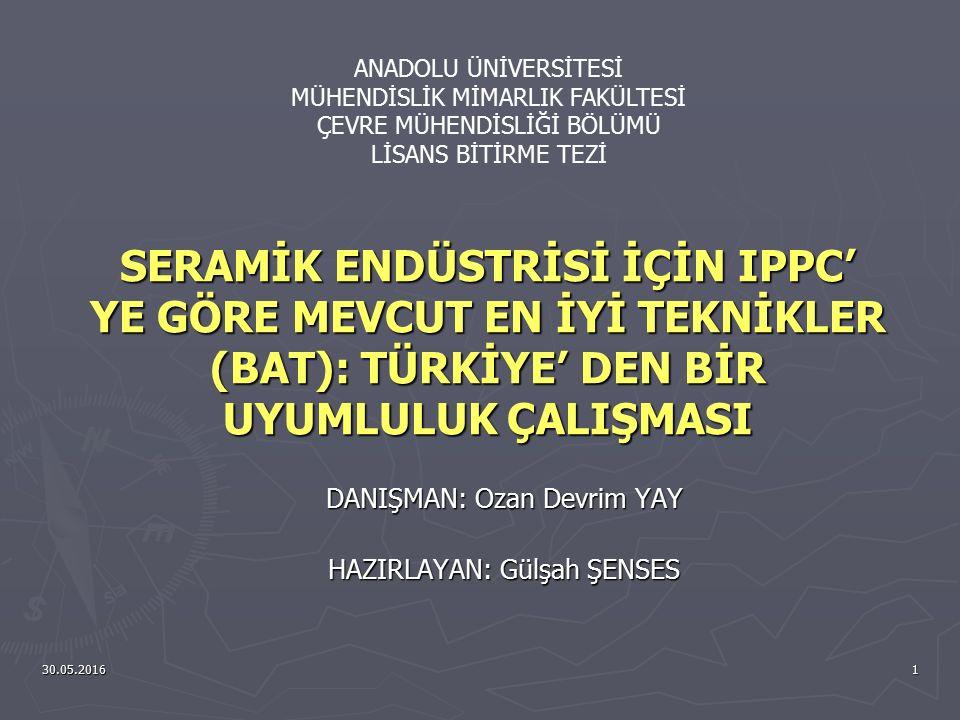 30.05.201612 Duvar ve Yer Karoları Endüstrisinin Türkiye' deki Durumu ► Seramik sektörü Türkiye'nin en eski ve en hızlı ilerleyen sektörüdür.