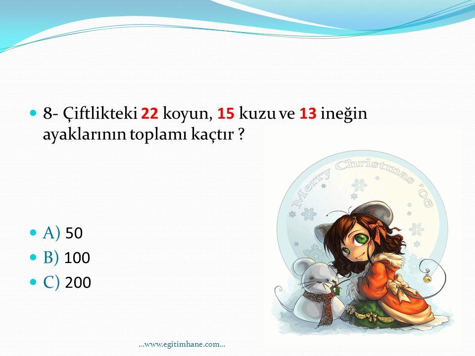 9- Mustafa 7 yaşında, Mustafa'nın babasının yaşı Mustafa'nın yaşının 5 katından 1 fazladır.
