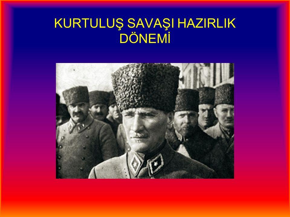 Erzurum Kongresi (22 Temmuz-7 Ağustos 1919) Amasya Genelgesi sonrasında Padişah, M.Kemal'in görevden alındığına dair buyruk çıkarmıştır ( 8 Temmuz 1919 ).