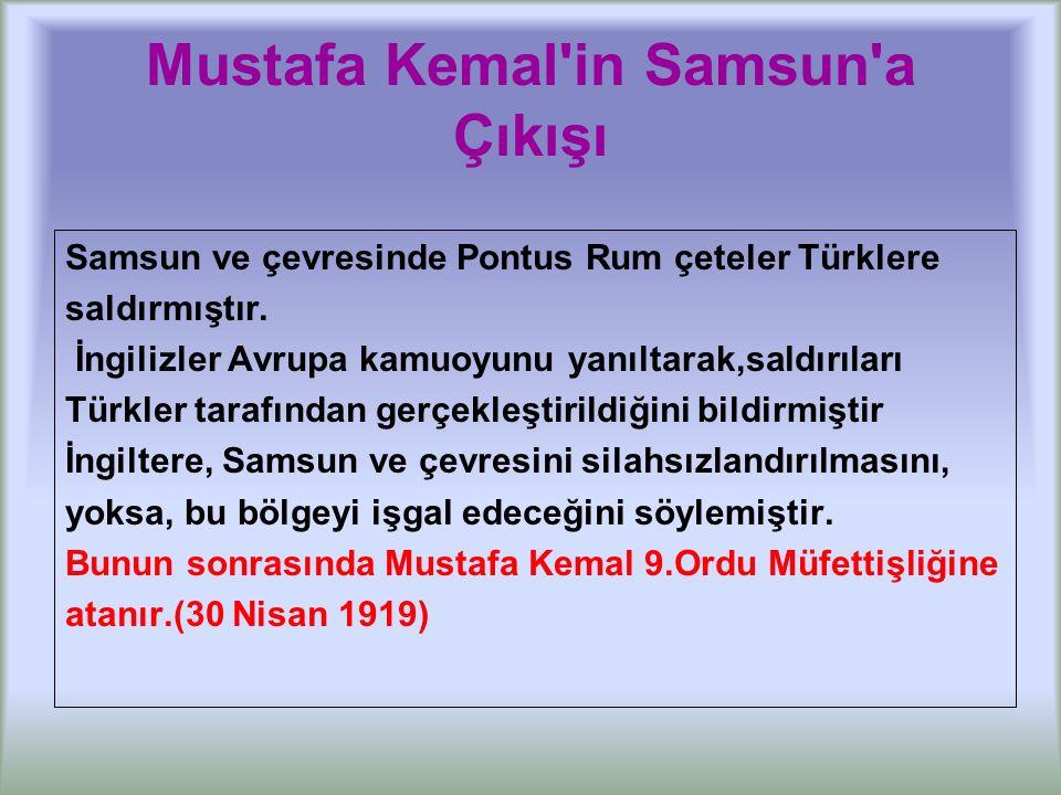 Erzurum Kongresi (23 Temmuz-7 Ağustos 1919) Doğuda Ermenilere karşı Doğu Anadolu Müdafaa-i Hukuk Cemiyeti mücadele veriyordu.
