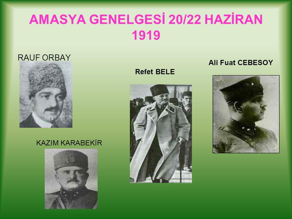 Kongrede Alınan Kararlar: 1.Erzurum Kongresi kararları aynen kabul edilmiştir.