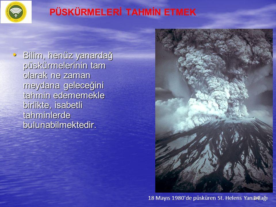 Bilim, henüz yanardağ püskürmelerinin tam olarak ne zaman meydana geleceğini tahmin edememekle birlikte, isabetli tahminlerde bulunabilmektedir. Bilim