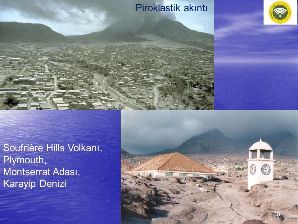 Piroklastik akıntı Soufrière Hills Volkanı, Plymouth, Montserrat Adası, Karayip Denizi 30