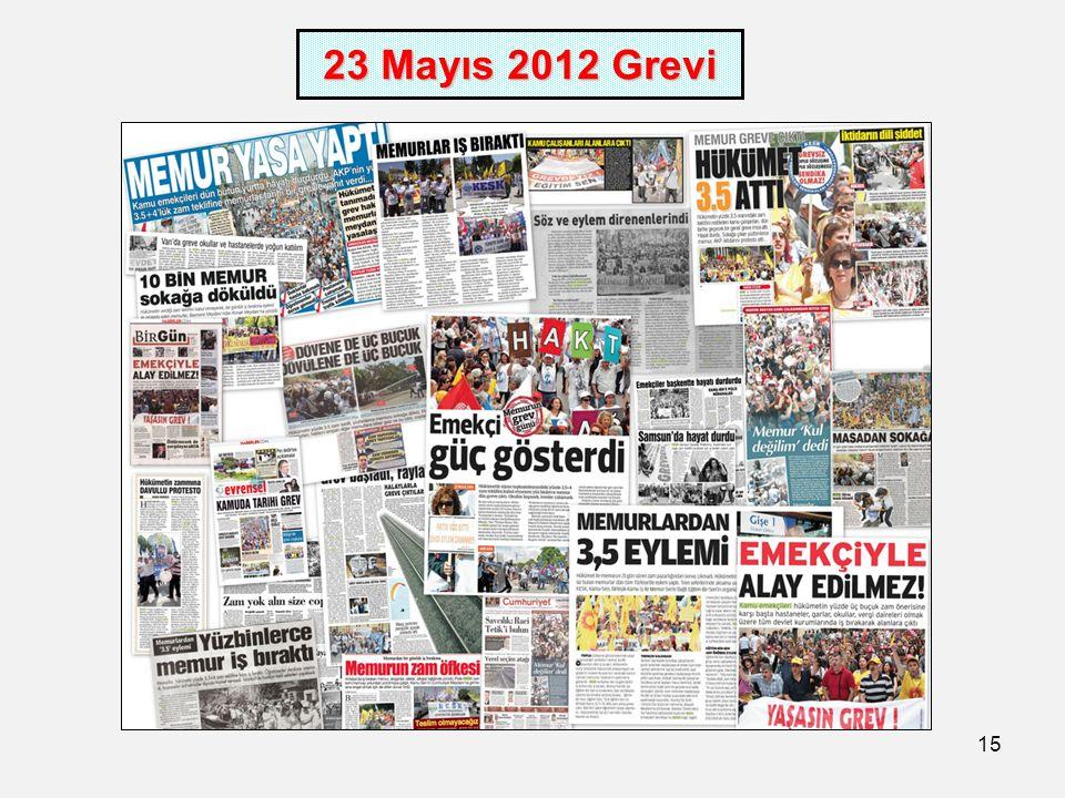 15 23 Mayıs 2012 Grevi