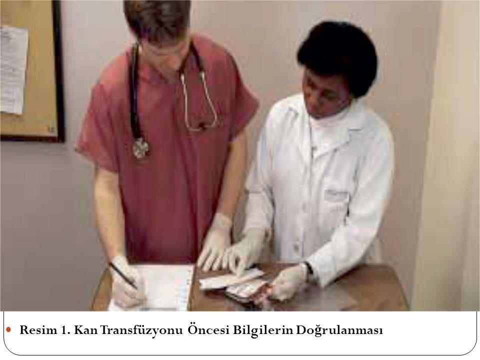 Resim 1. Kan Transfüzyonu Öncesi Bilgilerin Do ğ rulanması