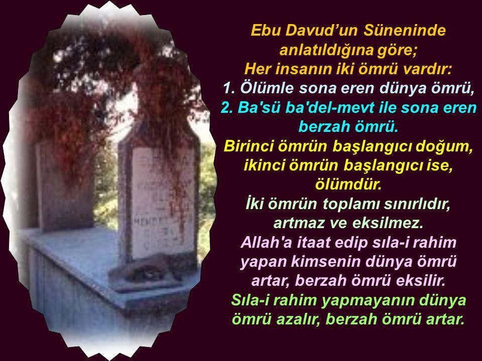 Ebu Davud'un Süneninde anlatıldığına göre; Her insanın iki ömrü vardır: 1. Ölümle sona eren dünya ömrü, 2. Ba'sü ba'del-mevt ile sona eren berzah ömrü