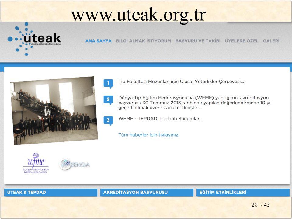 / 4528 www.uteak.org.tr
