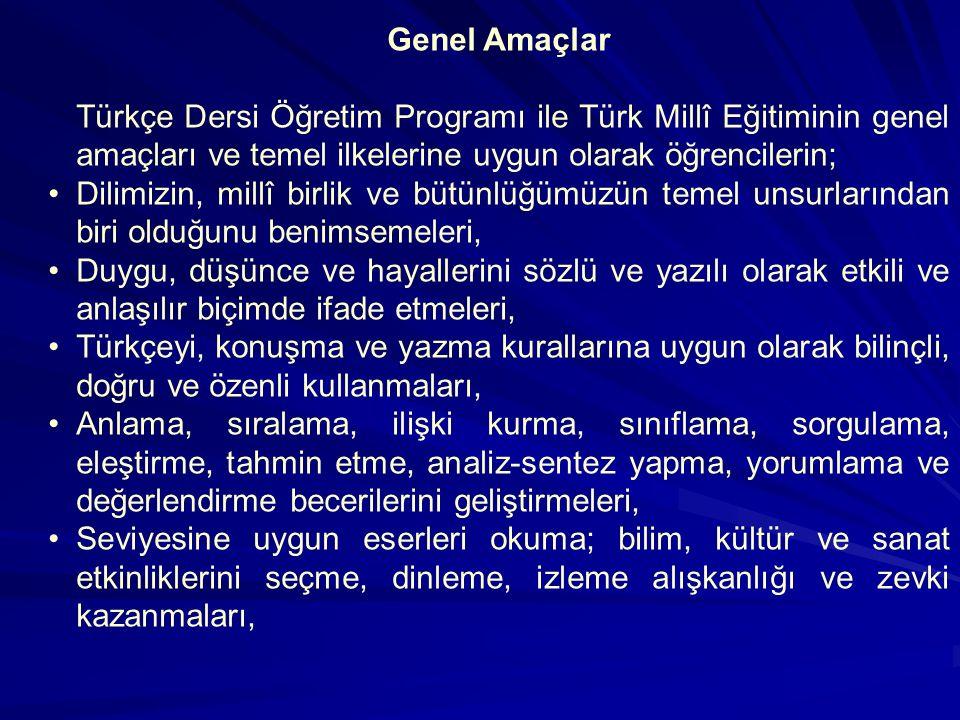 TEMEL BECERİLER Türkçeyi doğru, güzel ve etkili kullanma Eleştirel düşünme Yaratıcı düşünme İletişim kurma Problem çözme Araştırma Karar verme Bilgi t