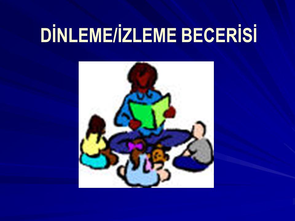 TEMEL DİL BECERİLERİ DİNLEME/İZLEME KONUŞMA OKUMA YAZMA DİL BİLGİSİ
