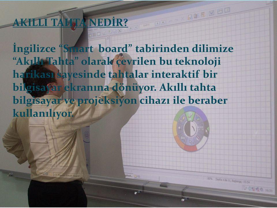 """AKILLI TAHTA NEDİR? İngilizce """"Smart board"""" tabirinden dilimize """"Akıllı Tahta"""" olarak çevrilen bu teknoloji harikası sayesinde tahtalar interaktif bir"""