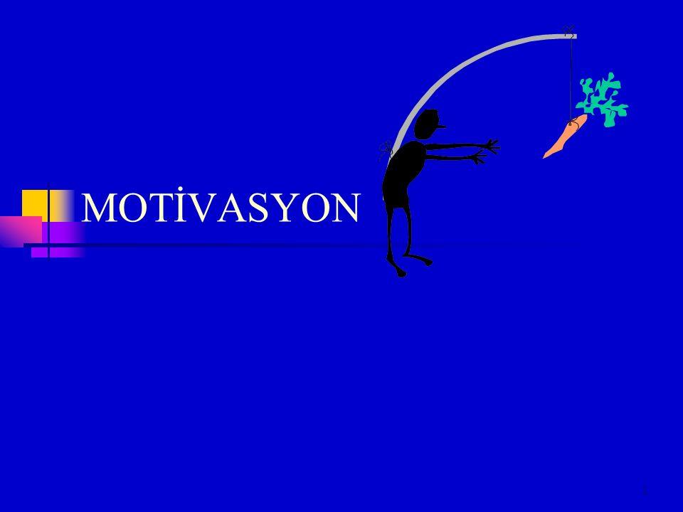 2 Motivasyon Motivasyon bir kimsenin belirli bir şekilde hareket etmesini teşvik etmek veya en azından belirli bir davranış gösterme eğilimi kazanmaktır.