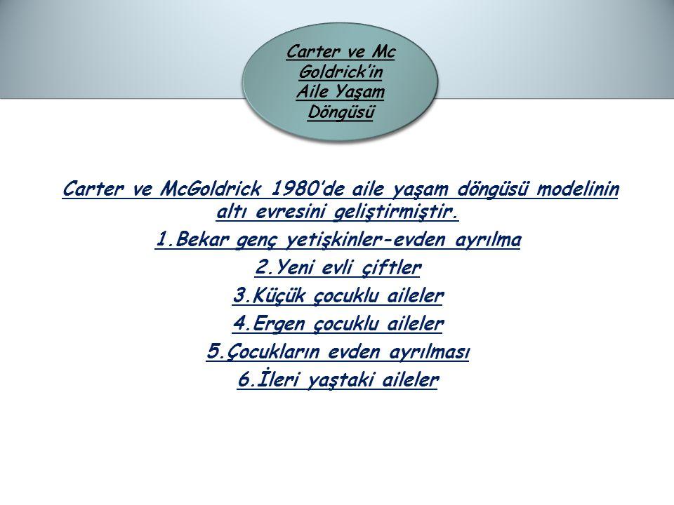 Carter ve McGoldrick 1980'de aile yaşam döngüsü modelinin altı evresini geliştirmiştir.