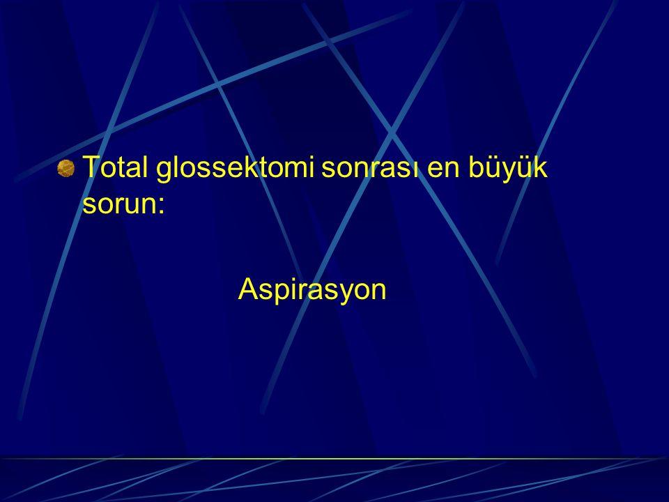 Total glossektomi sonrası en büyük sorun: Aspirasyon