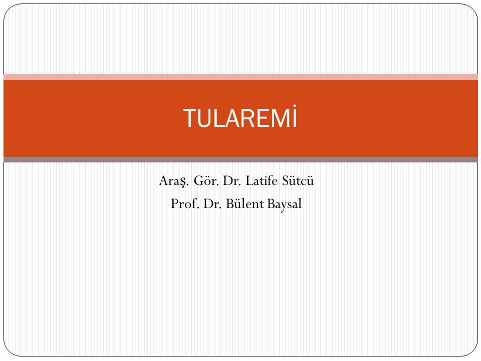 Ara ş. Gör. Dr. Latife Sütcü Prof. Dr. Bülent Baysal TULAREMİ