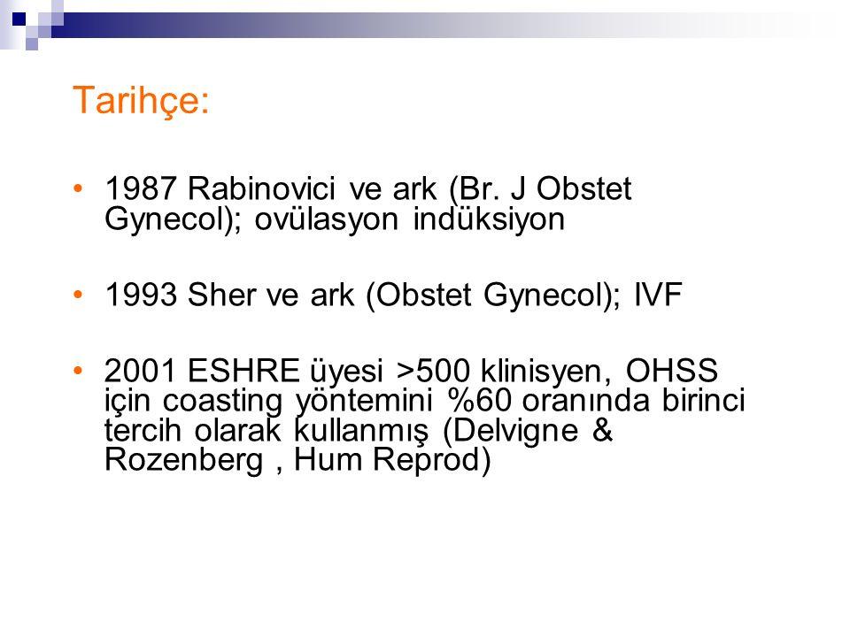 Tarihçe: 1987 Rabinovici ve ark (Br. J Obstet Gynecol); ovülasyon indüksiyon 1993 Sher ve ark (Obstet Gynecol); IVF 2001 ESHRE üyesi >500 klinisyen, O