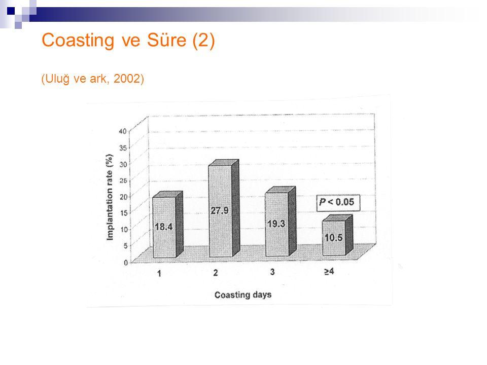 Coasting ve Süre (2) (Uluğ ve ark, 2002)