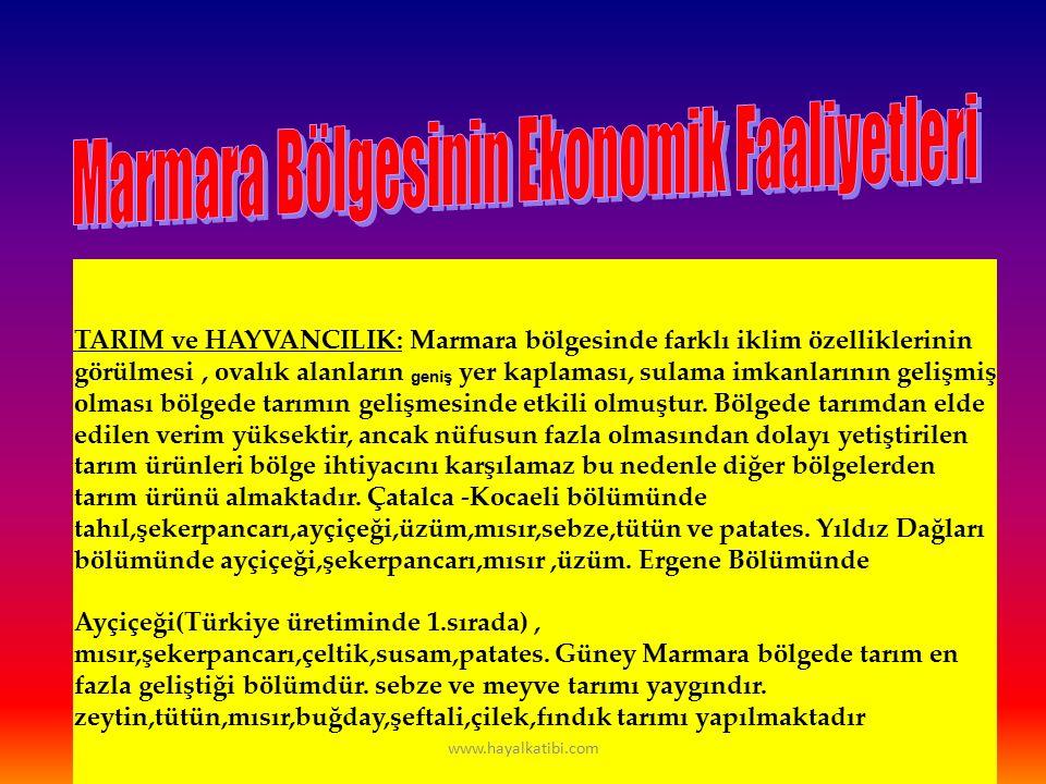 İklim ve Bitki Örtüsü Marmara Bölgesi nin iklimini söylerken,tek bir iklim adı ile başlıklandırmak doğru olmaz, Marmara Bölgesinde hüküm süren iklim Karadeniz İklimi, Karasal İklim ile Akdeniz İklimi arasında bir geçiş evresidir.